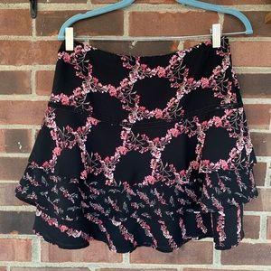 NWOT WHBM mixed floral print layered skirt